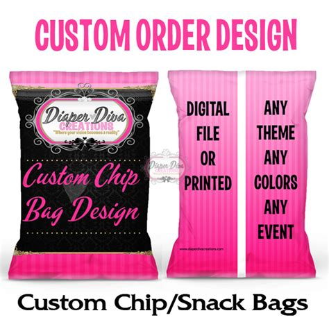 Custom One Of A Bags Chip by Custom Design Chip Bags Favor Bags