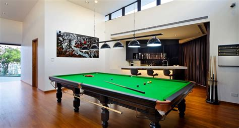 U Home Interior Design Pte Ltd dazzling bumper pool table in family room asian with pool