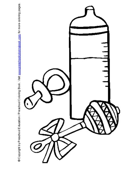 coloring pages baby items free coloring pages of baby items
