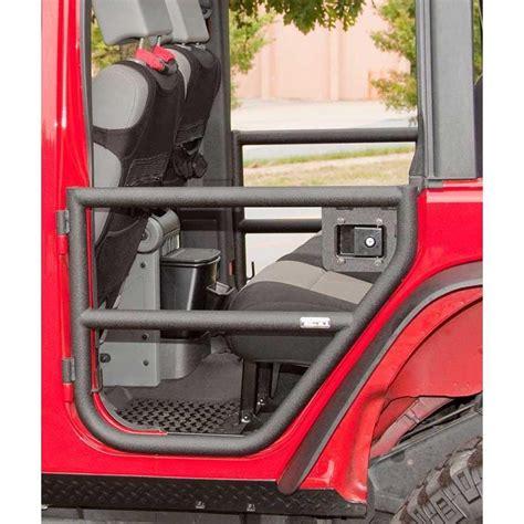 jeep jku tube doors rear tube doors textured black 2007 2018 jeep wrangler