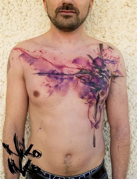 watercolor chest tattoo ideas watercolor images designs