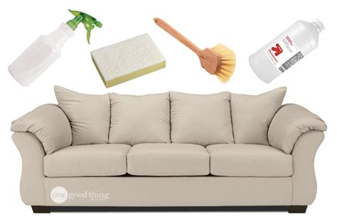 how to clean a microfiber or sofa one thing