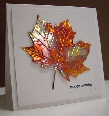 copper sheet craft ideas copper maple leaf embossed die cut soda can cards
