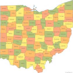 state of counties map mrs cady ohio