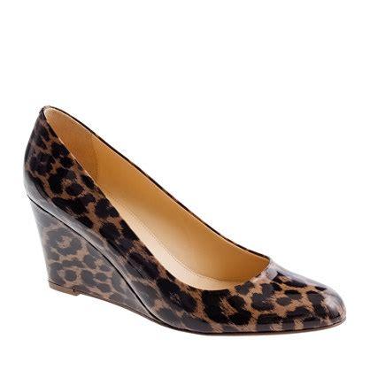 martina leopard wedges wedges j crew