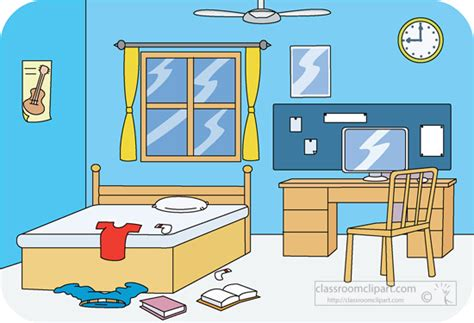 clipart of bedroom clip art boys room clipart