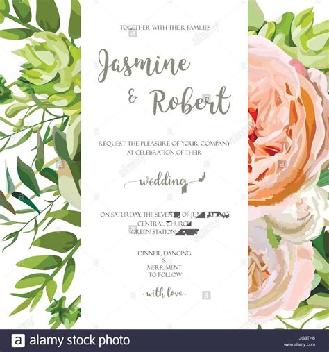 garden wedding invitation card template wedding invitation floral invite card with pink garden