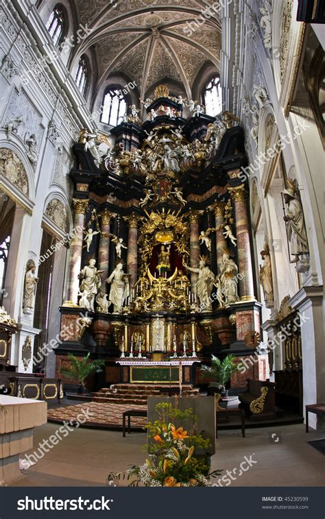 catholic church interior bamberg germany stock photo