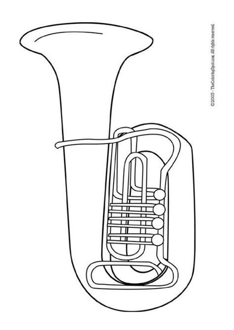 euphonium coloring page malvorlage tuba ausmalbild 5958