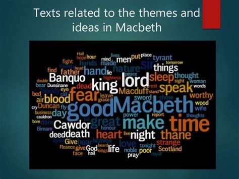 relevant themes in macbeth books related to macbeth