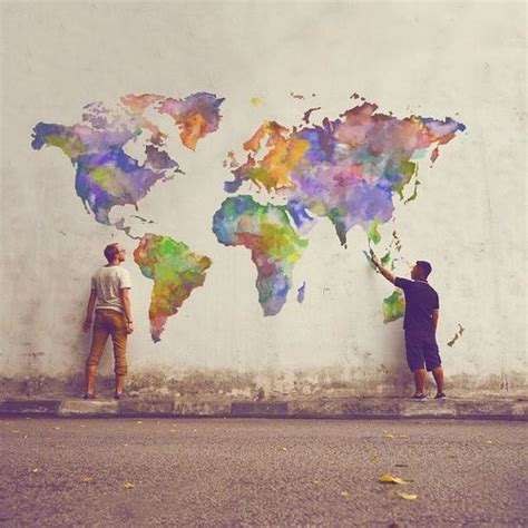 9 best images about graffiti style world map on watercolors pieces and grunge