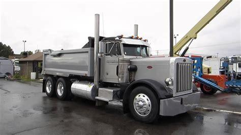 scow dump truck sold dump truck peterbilt 359 15 yard box cummins 400 hp