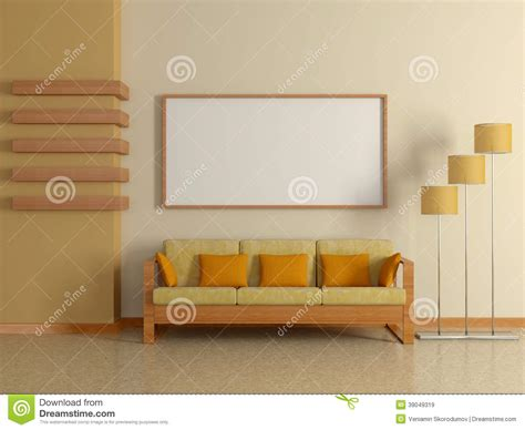 sofa painting modern home interior with sofa painting 3d stock