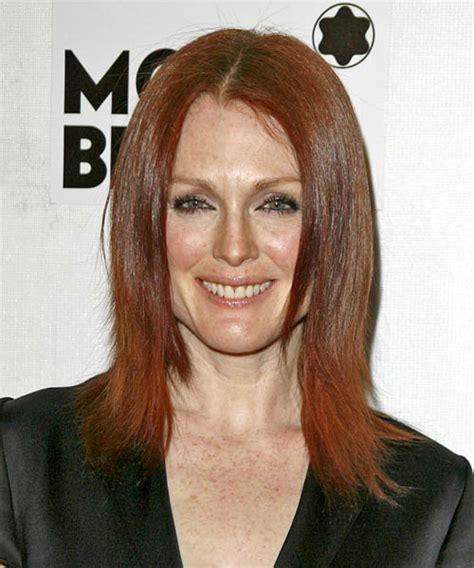 Julianne Moore Medium Hairstyle | julianne moore medium straight casual hairstyle