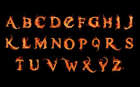 hd fire alphabets    letters wallpaper
