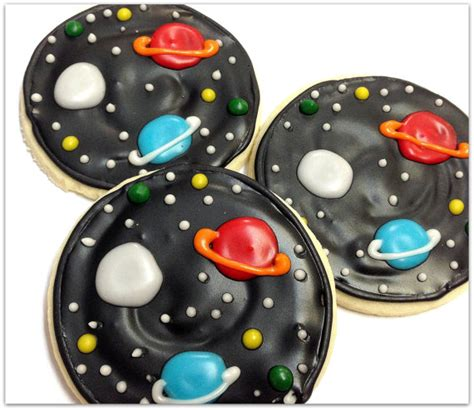 Planet Cookies planet sugar cookies outer space by sugarmedesserterie