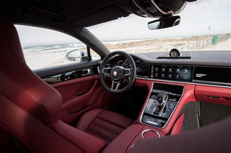 porsche panamera red interior first drive 2018 porsche panamera 4 e hybrid automobile
