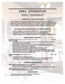 Interior Designer Resume Exle by Interior Designer Resume