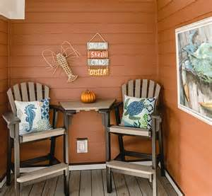 Home Decor Names by Fall Beach Decor In An Orange Cottage Completely Coastal