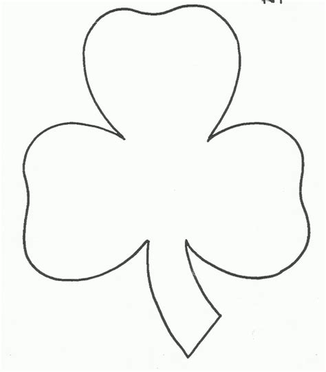 template of shamrock pin shamrock shape template on