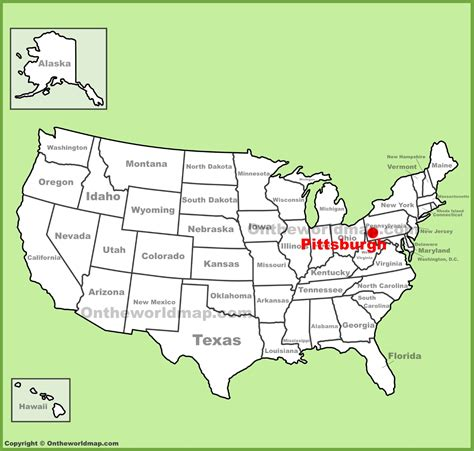 map usa pittsburgh pittsburgh on map my