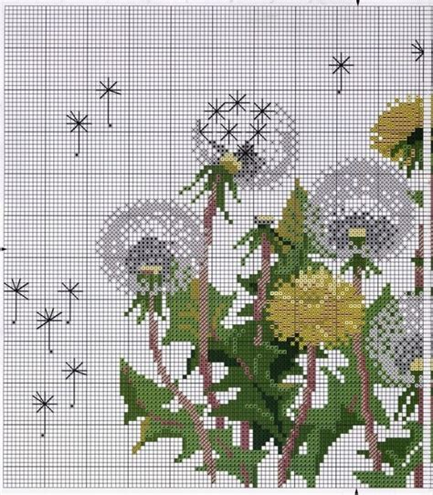 free pattern in cross stitch cross stitch pattern dandelions diy 100 ideas