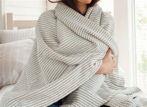 Maden Decke by Cotton Ticking Stripe Blanket Brahms Mount