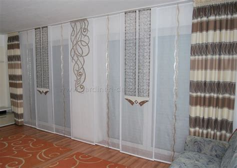 Seitenschals Wohnzimmer by Helle Wohnzimmer Schiebegardine Mit Zwei Seitenschals In