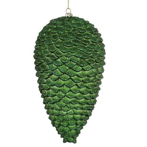 vickerman 337301 10 quot green matte glitter pine cone