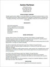 Professional Legal Secretary Resume Templates to Showcase
