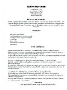 legal secretary objective examples 1 - Secretary Objective For Resume Examples