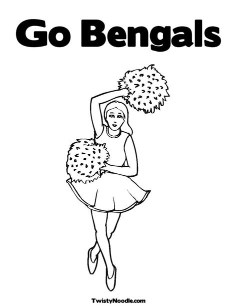 cincinnati bengals free coloring pages