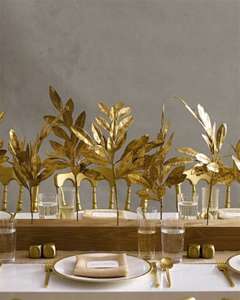 Modern Fall Decorations - 35 gold thanksgiving d 233 cor ideas digsdigs