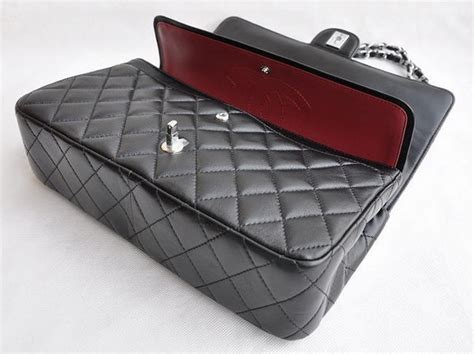 Chanel Pouch Series 09nc1120 chanel classic 2 55 series black lambskin silver chain quilted flap bag 1113 196 00
