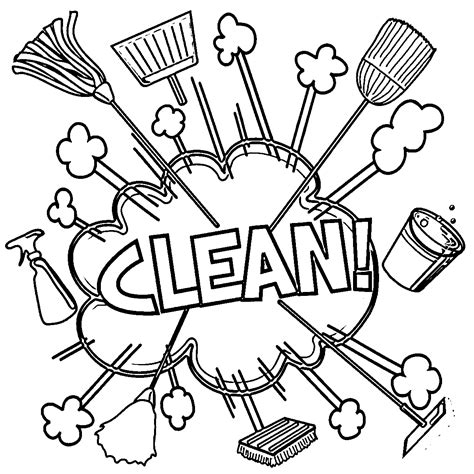 wildcat is cleaning the house coloring page free tale cleaning coloring pages coloring free download printable