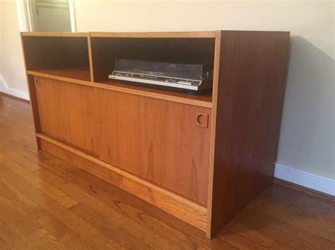 Danish Modern Teak Audio Console Storage Cabinet Epoch