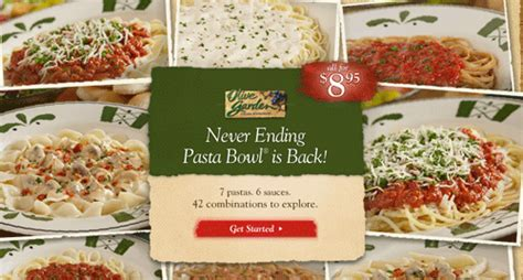 Olive Garden Brings Back Never Ending Pasta Bowl Offer Chew Boom - olive garden never ending pasta bowl 8 95 happy money
