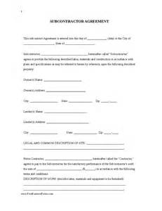 Subcontractors Contract Template by Subcontractor Agreement Hashdoc