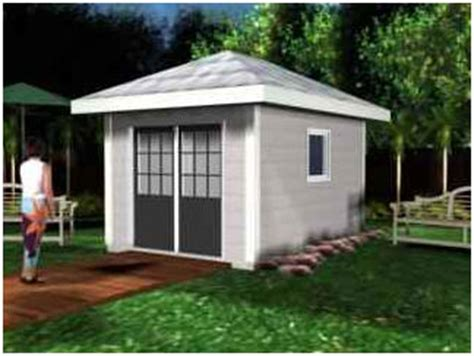 hip roof shed or cabana plans