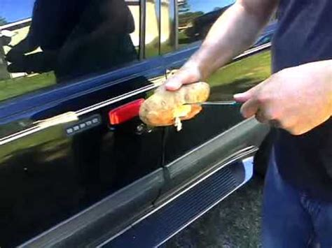How To Unlock A Locked Car Door by How To Unlock A Car Door With A Potato