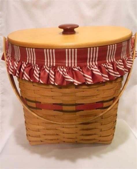 longaberger baskets longaberger 1998 holiday hostess winter wishes basket combo