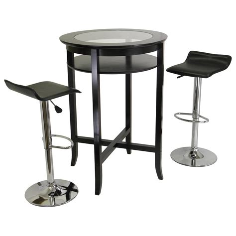 winsome 174 espresso 3 pc pub table set 151424 kitchen