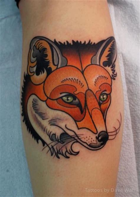 arm new fox tattoo by dave wah