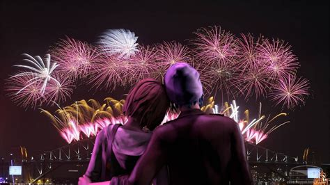 years eve loving couple romantic night   beloved celebration  fireworks romantic