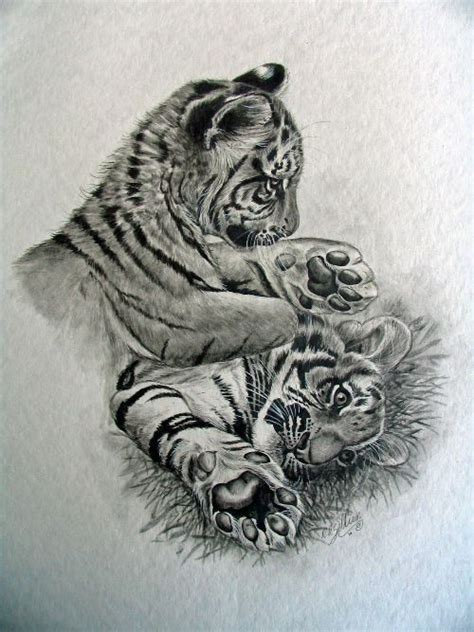 baby tiger tattoo designs kittens baby tiger pencil and in color