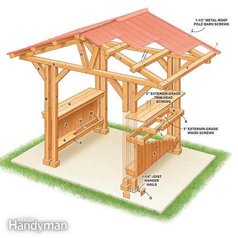 gazebo roof plans grill gazebo plans make a grillzebo the family handyman