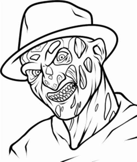 Freddy Krueger Coloring Pages how to draw freddy krueger easy step by step characters