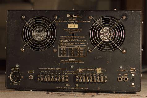 mcintosh mc  watt vintage stereo amplifier