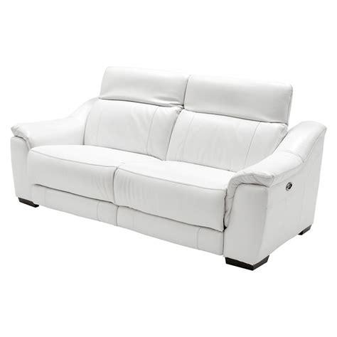 power motion recliner sofa liv davis white 86 quot power motion duo recliner leather sofa