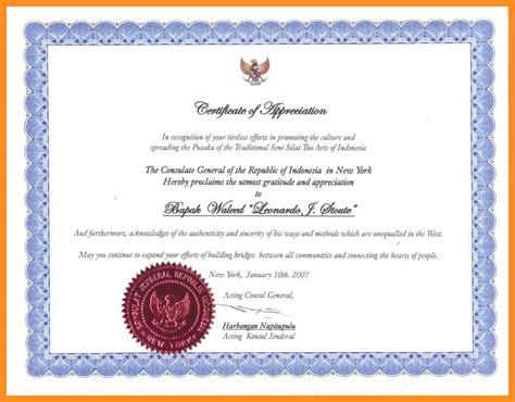 design a certificate in word certificate of appreciation sle army gallery